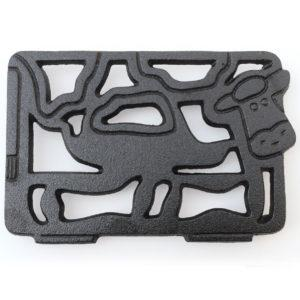 CAST IRON COW TRIVET