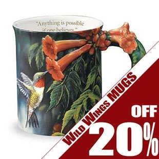 Wild Wings Mugs - 20% off