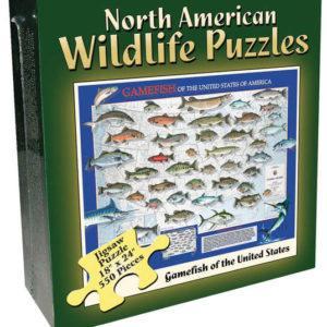 North American Wildlife Jigsaw Puzzle - Gamefish