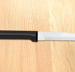 SERRATED STEAK KNIFE BLACK