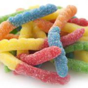 Sour Neon Gummi Worms 1lb