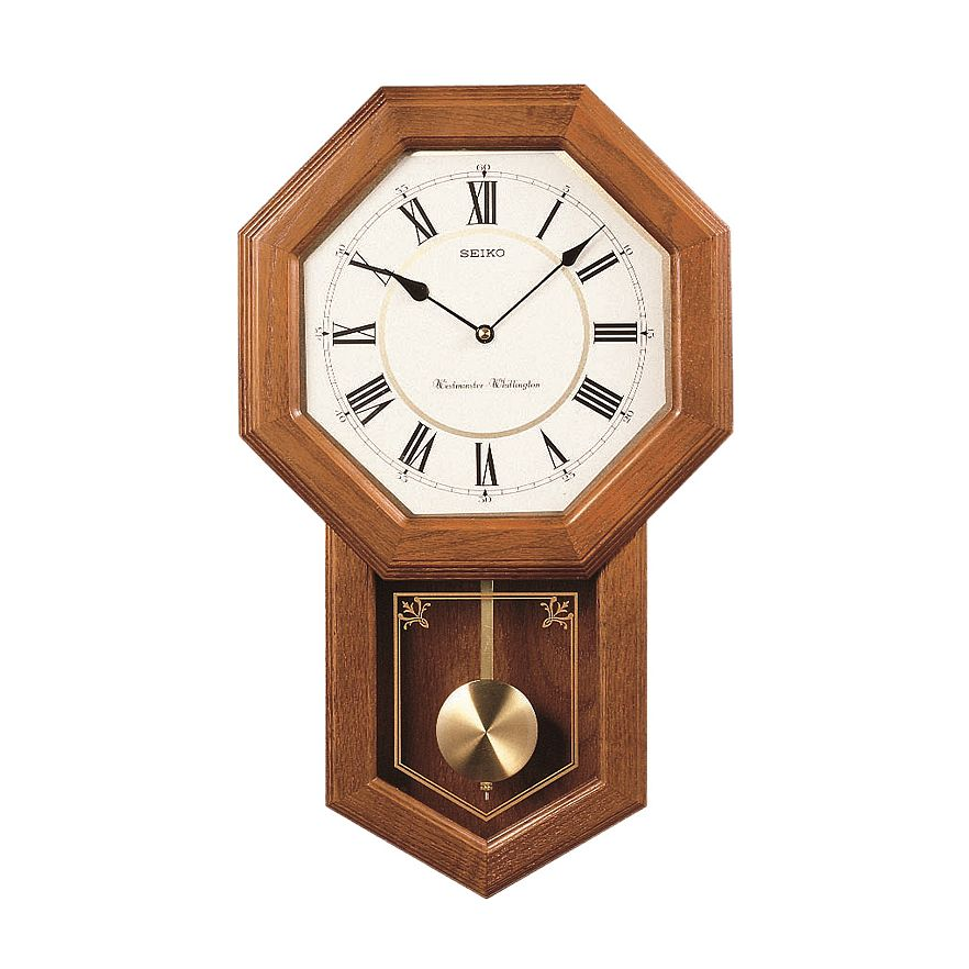 Woodward Pendulum Wall Clock Light Oak Dutch Country