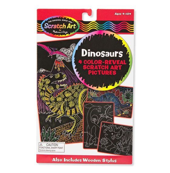 Melissa /& Doug Dinosaurs 4 Color-Reveal Picture 5957
