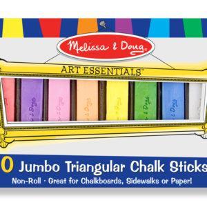 10 Jumbo Triangular Chalk Sticks