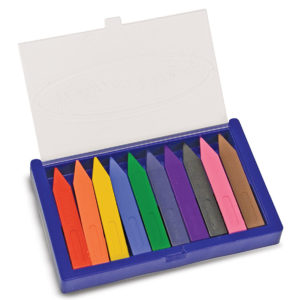 10 Jumbo Triangular Crayons