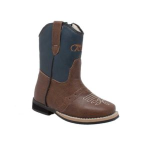 "AdTec Tecs Toddler Boy's 6"" Side Zipper Western Cowboy Boot"