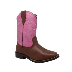 "AdTec Tecs Girls's Children's 8"" Western Pull On Cowboy Boot"