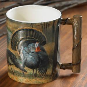 Backwoods Rendezvous – Wild Turkeys Sculpted Coffee Mug