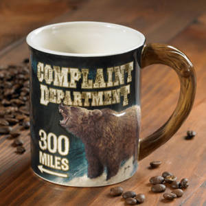 Complaint Department 300 Miles – Grizzly Bear Sculpted Coffee Mug