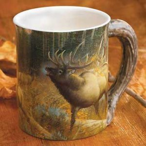 Master of Intimidation – Elk Sculpted Coffee Mug