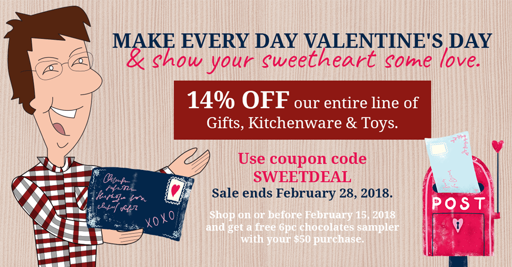 Dutch Country General Store 14pc St Valentine Day Discount