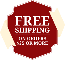 Free Shipping 25 minimum