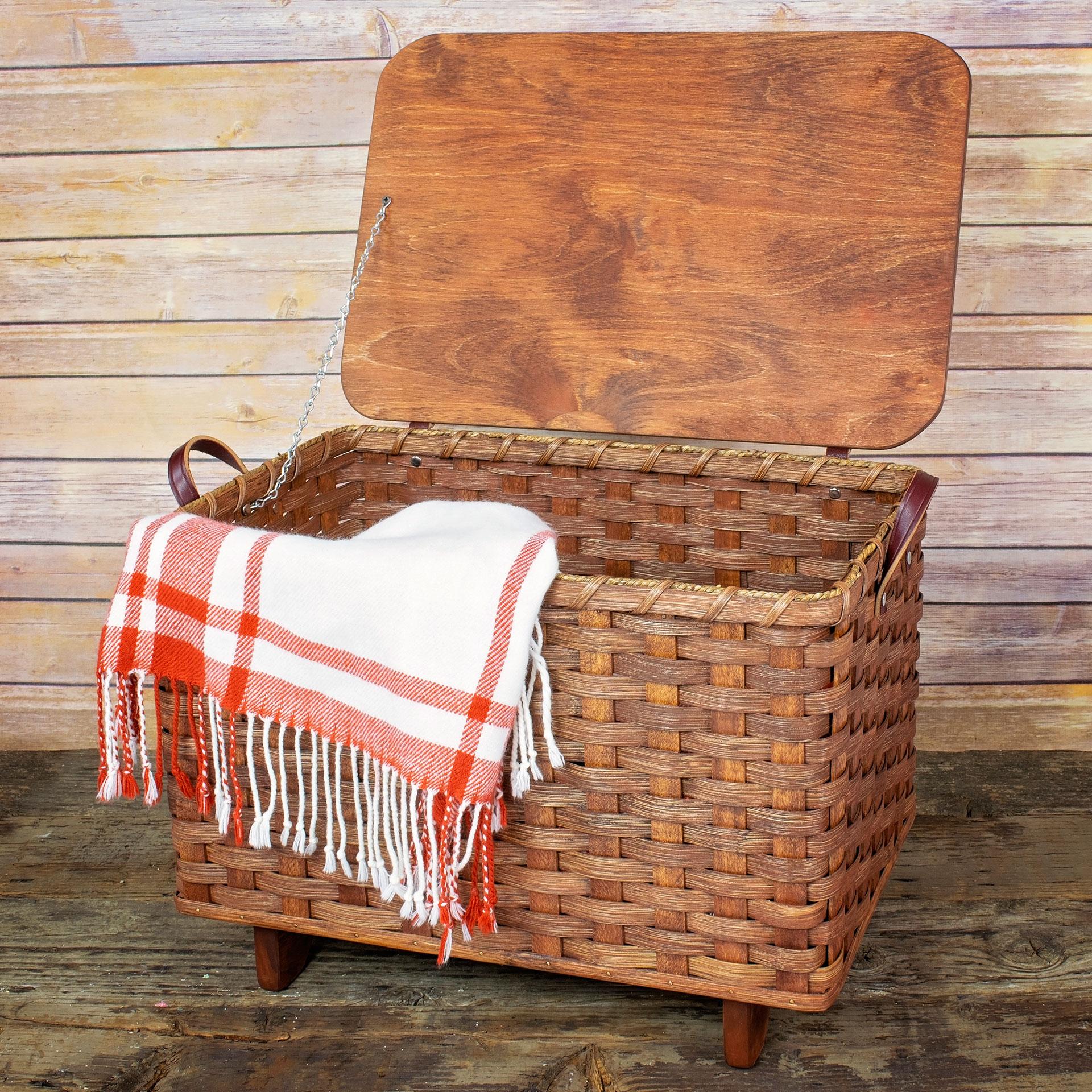 Blanket Basket W Lid Dutch Country General Store